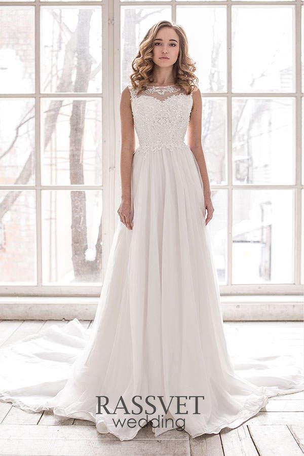 8275c1abf951e4d ✓ Прямые свадебные платья с плечами купить он-лайн в интернет ...