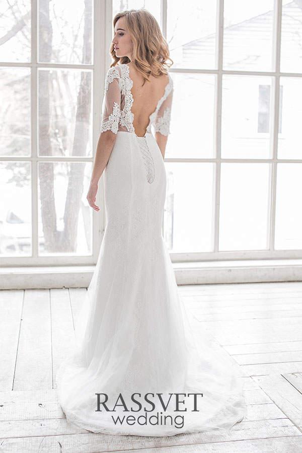 146f5fbf145 ✓ Кружевные свадебные платья с рукавами купить он-лайн в интернет ...