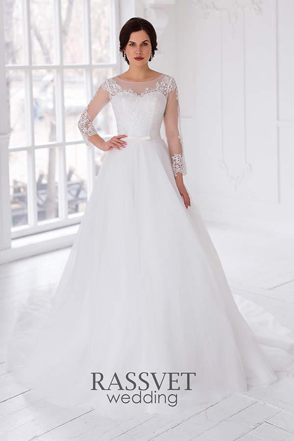 62cfe49384d ✓ Закрытые свадебные платья со шлейфом купить он-лайн в интернет ...