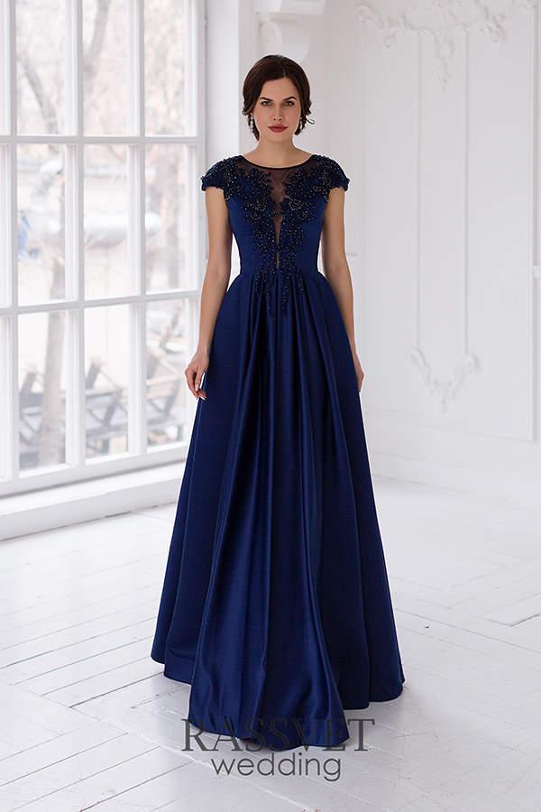 d5ae36a9455 ✓ Вечернее платье синего цвета купить он-лайн в интернет-магазине ...